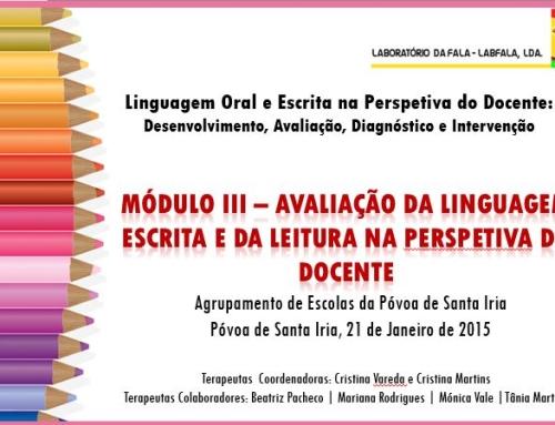 Formação Linguagem Oral e Escrita na Perspetiva do Docente
